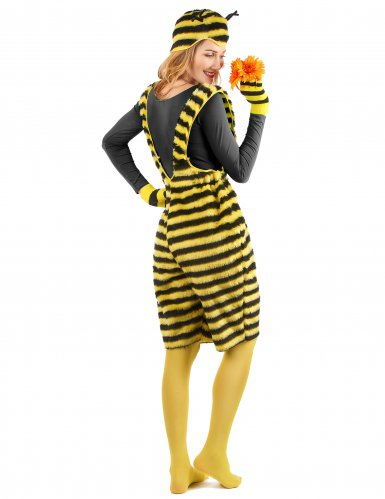 Disfraz mono peluche abeja adulto-2
