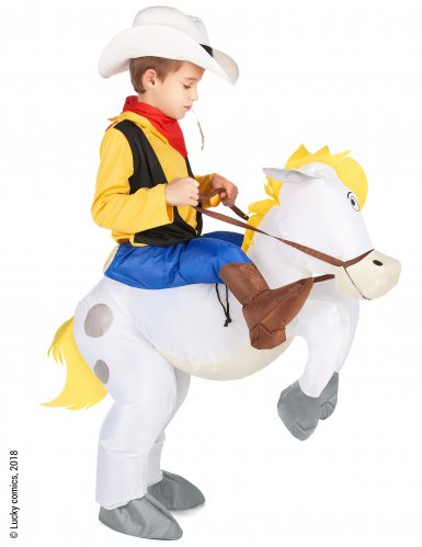 Disfraz Carry me niño Lucky Luke™ sobre Jolly Jumper-1