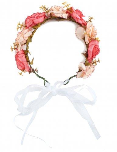 Corona de rosas y flores blancas adulto-1