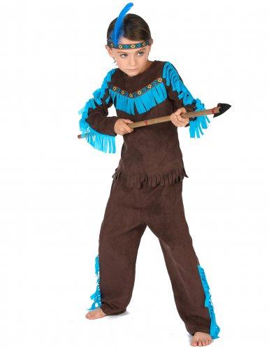 Disfraz indio marrón niño-1