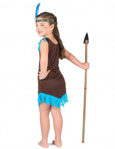 Disfraz india marrón y azul para niña-2