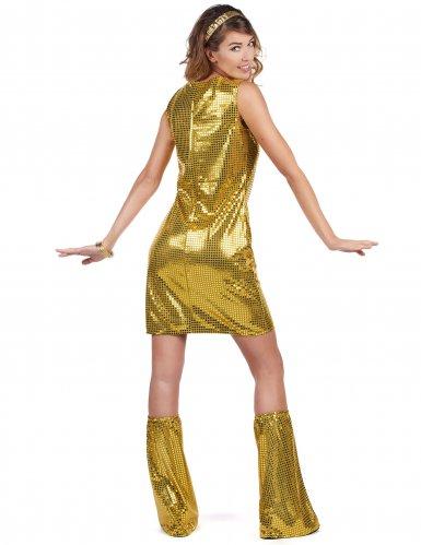 Disfraz disco dorado con lentejuelas mujer-2