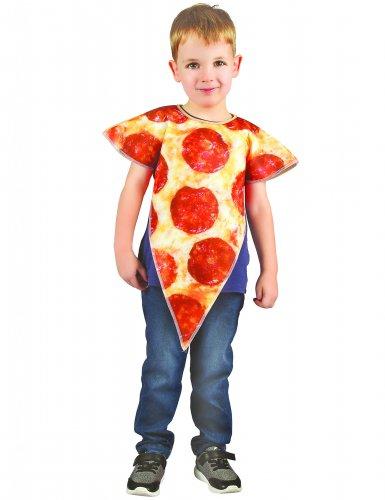Disfraz porción de pizza niño