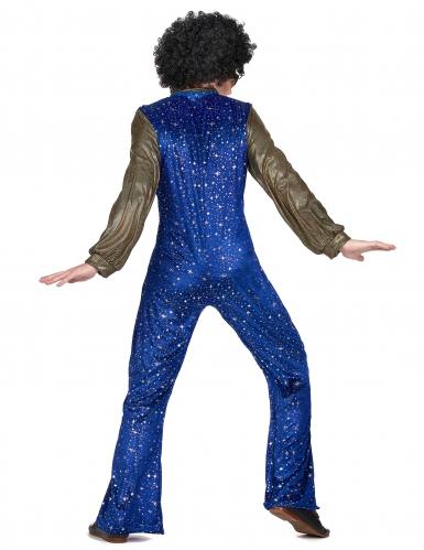 Disfraz disco azul y dorado hombre-2