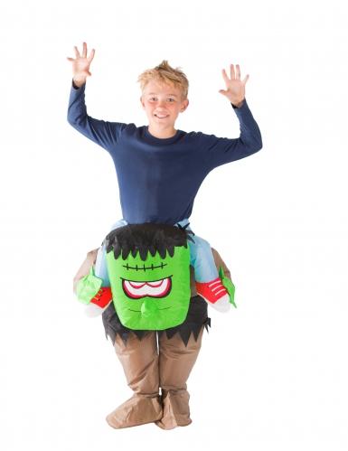 Disfraz monstruo verde hinchable niño