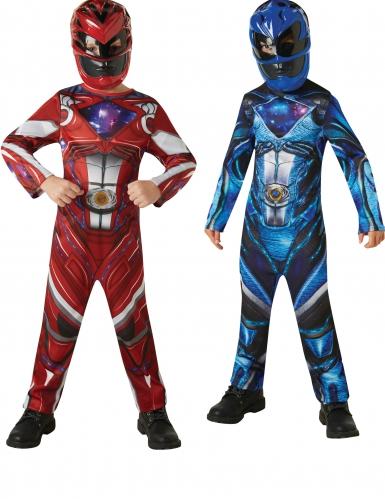 Kit disfraz Power Rangers™ rojo y azul niño