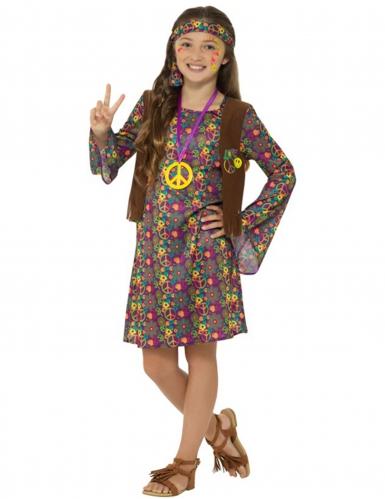 Disfraz hippie años 60 niña