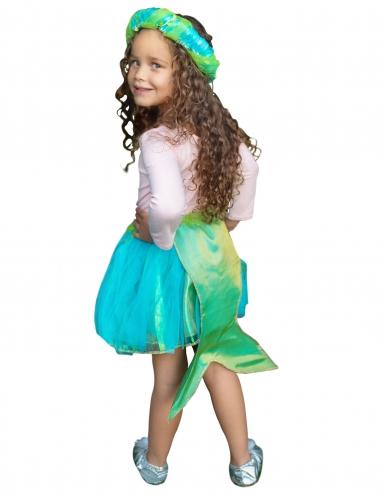 Tutú de sirena azul y verde con corona niña-1
