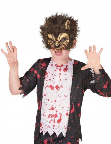 Máscara de látex lobo feroz niño