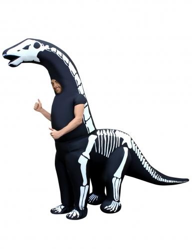 Disfraz hinchable esqueleto dinosaurio gigante adulto Morphuits™