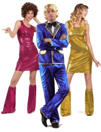 Disfraz de grupo disco cantante y bailarinas