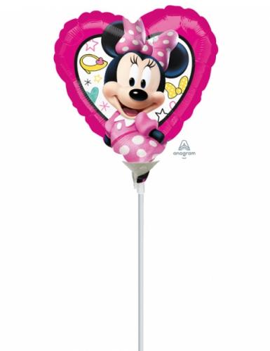 Globo pequeño corazón aluminio Minnie™ 23x23 cm
