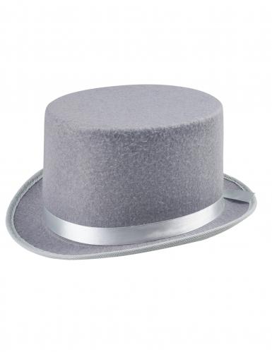 Sombrero de copa gris adulto-1