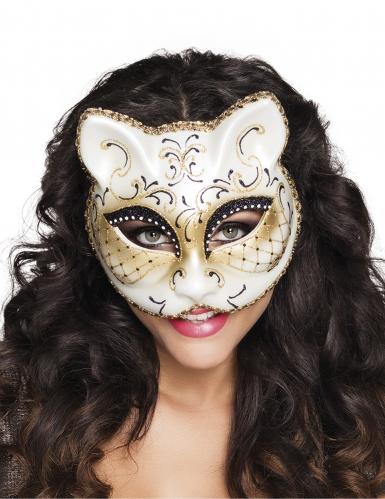 Antifaz veneciano gato mujer