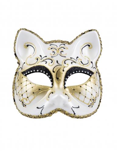 Antifaz veneciano gato mujer-1