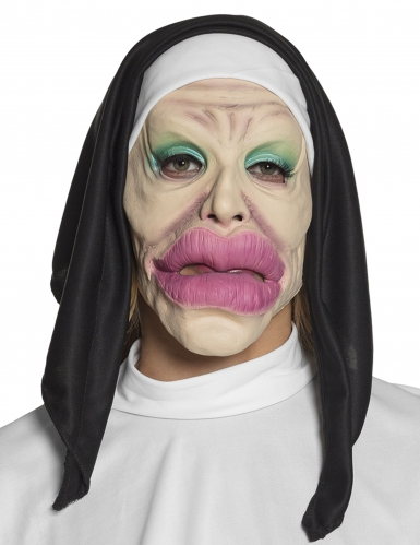 Máscara de látex humorística religiosa adulto