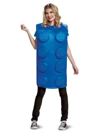 Disfraz pieza de Lego azul adulto