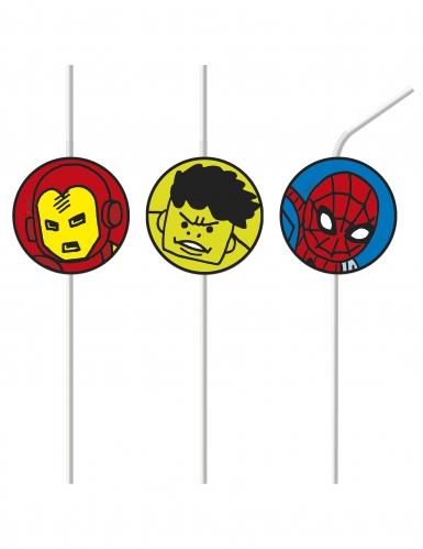 6 Pajitas medallones Los Vengadores™