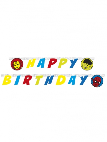 Guirlanda happy birthday Avengers™ 2 metros