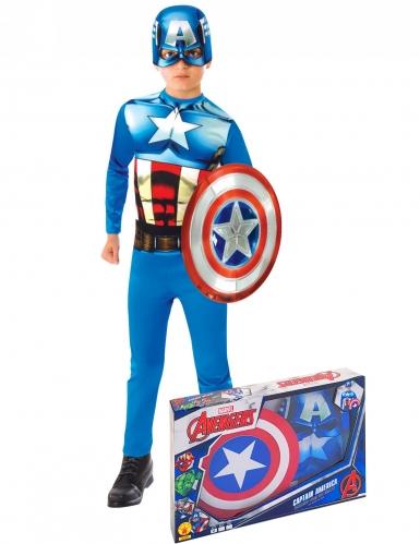 Caja clásico Capitán América™ con escudo niño