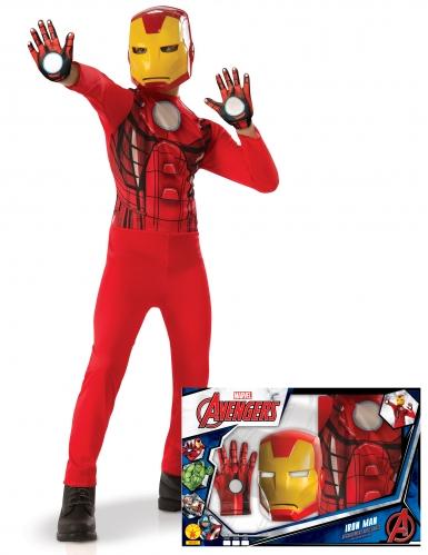 Disfraz clásico Iron Man™ con guantes niño en caja