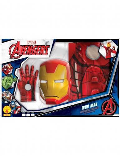 Disfraz clásico Iron Man™ con guantes niño en caja-1