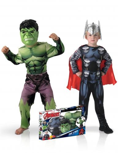 Disfraz dúo clásico Hulk™ y Thor™ niño en caja