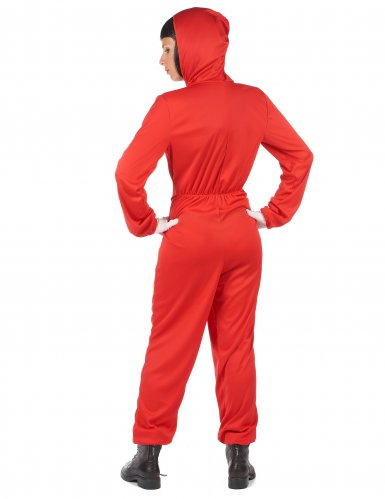 Disfraz mono rojo ladrón adulto-3