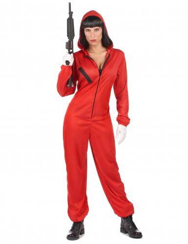Disfraz mono rojo ladrón adulto-5