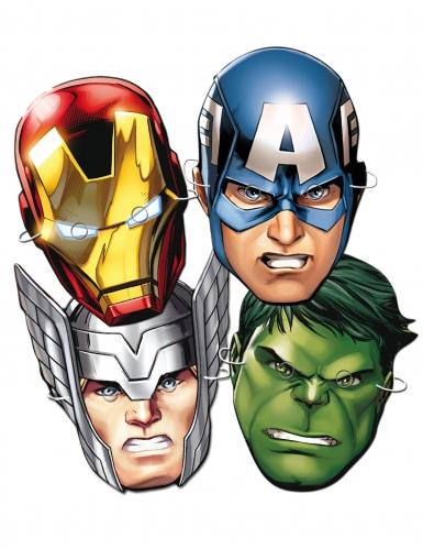 6 Caretas de cartón Avengers™