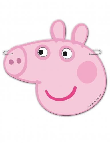 6 Caretas de cartón Peppa Pig™-1