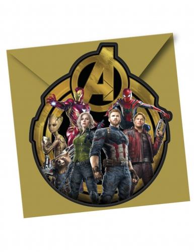 6 Tarjetas De Invitación Con Sobres Avengers Infinity War