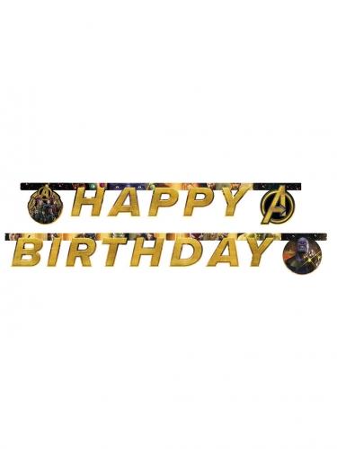 Guirlanda Happy Birthday Avengers Infinity War™ 2 m x 16 cm