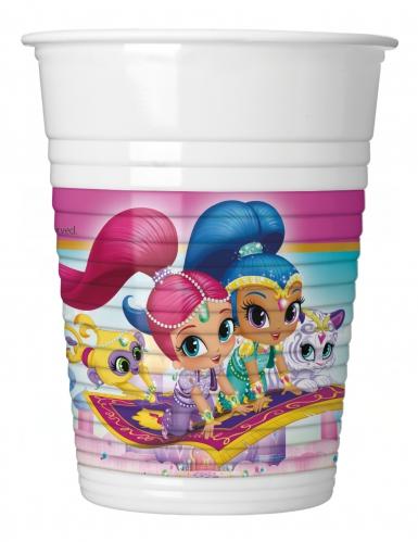 8 Vasos de plástico Shimmer and Shine™ 200 ml