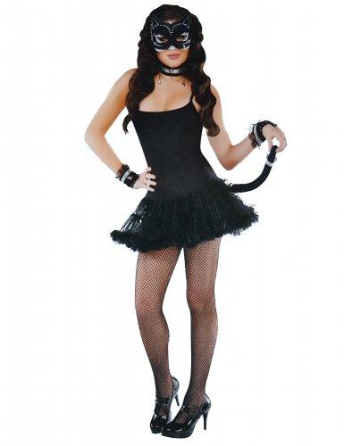 Kit accesorios gata sexy negro mujer