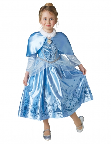 Disfraz princesa de invierno Cenicienta™ con capa niña
