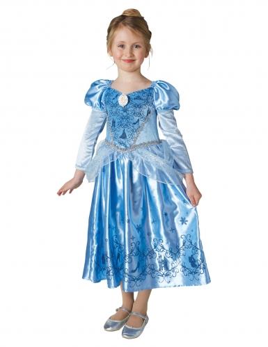 Disfraz princesa de invierno Cenicienta™ con capa niña-1