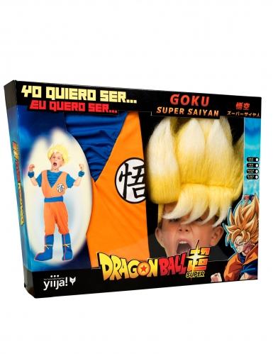 Disfraz Super Saiyajin Goku Dragon Ball™ niño con peluca en caja-3
