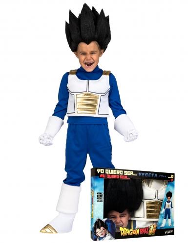 Cofre disfraz con peluca Vegeta Dragon Ball™ niño