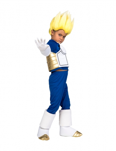 Disfraz Super Saiyajin Vegeta Dragon Ball™ niño con peluca-1