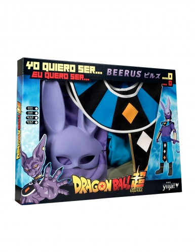 Disfraz con máscara Beerus Dragon Ball™ niño en caja-3
