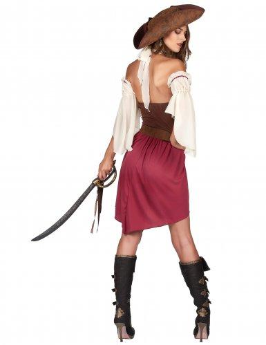 Disfraz pirata burdeo sexy mujer-2