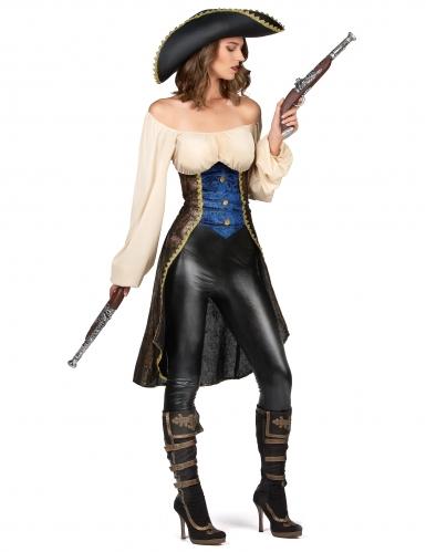 Disfraz pirata marrón mujer-1