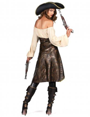 Disfraz pirata marrón mujer-2