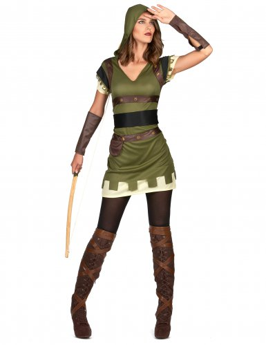 Disfraz arquera verde del bosque mujer-1