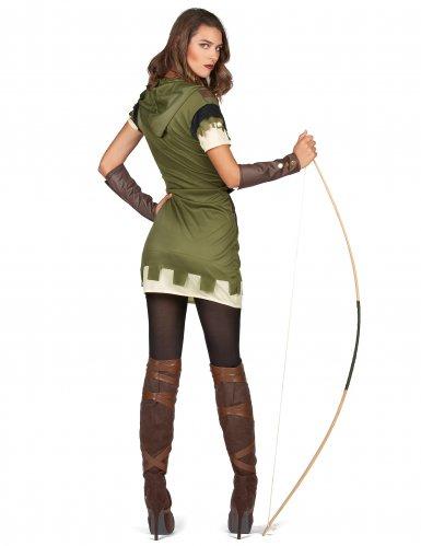Disfraz arquera verde del bosque mujer-2