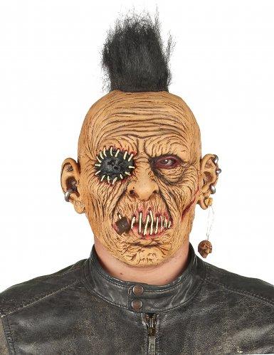 Máscara látex punk con cresta adulto-1