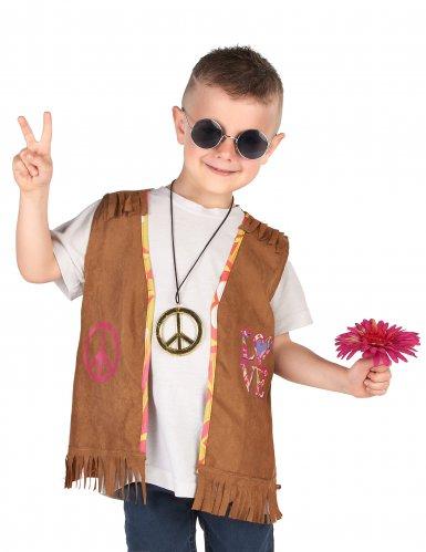Disfraz chaqueta hippie niño-1