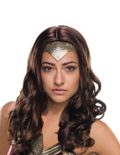 Peluca de lujo Wonder Woman™ adulto