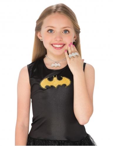Kit de pendientes, collar y anillo Batgirl™